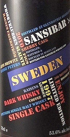 Glenrothes 20y - Sansibar Whisky for Whiskyclubben Slainthe