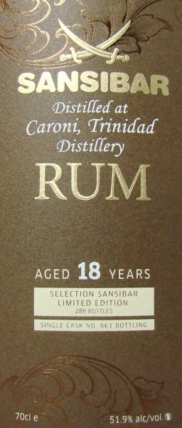 Caroni 18y (Cask 861) - Sansibar Classic Label